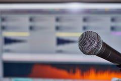 Muziekproductie met DAW Royalty-vrije Stock Afbeelding
