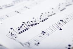 Muziekscores Royalty-vrije Stock Afbeeldingen