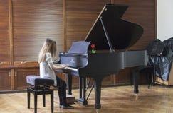 Muziekstudent Stock Foto's
