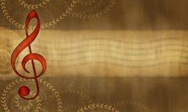 Muzieksymbool stock illustratie