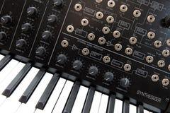 Muzieksynthesizer Stock Foto's