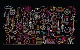 Muziekwinkel vector illustratie