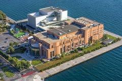 Muziekzaal van Thessaloniki, luchtmening Royalty-vrije Stock Fotografie