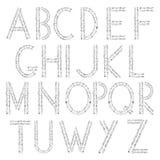 Muzikaal alfabet stock illustratie