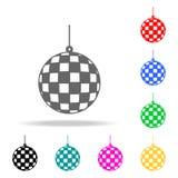 muzikaal balpictogram Elementen van partij multi gekleurde pictogrammen Grafisch het ontwerppictogram van de premiekwaliteit Eenv vector illustratie