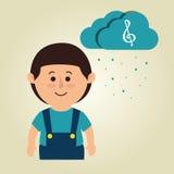 muzikaal conceptontwerp royalty-vrije illustratie