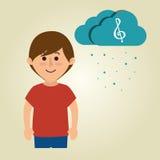 muzikaal conceptontwerp stock illustratie