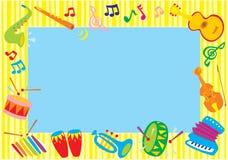 Muzikaal foto-kader stock illustratie