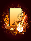 Muzikaal frame stock illustratie