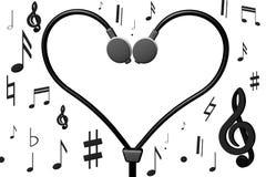Muzikaal hart Stock Foto