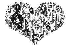 Muzikaal hart Stock Fotografie