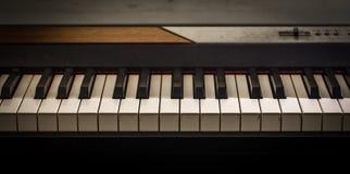 muzikaal instrument, de close-up van pianosleutels Stock Foto's