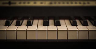 muzikaal instrument, de close-up van pianosleutels Stock Afbeelding