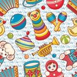 Muzikaal instrument en babyspeelgoed stock illustratie