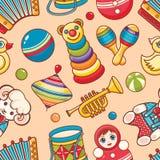 Muzikaal instrument en babyspeelgoed vector illustratie