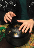 Muzikaal instrument Hang Drum Hapitrommel stock fotografie