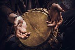 Muzikaal instrument jembe stock foto
