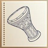 Muzikaal instrument Trommel percussie Vector illustratie royalty-vrije illustratie