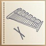 Muzikaal instrument xylophone percussie Vector illustratie royalty-vrije illustratie