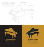 Muzikaal instrumenten grafisch malplaatje Grote piano Royalty-vrije Stock Afbeeldingen