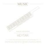 Muzikaal instrumenten grafisch malplaatje Keytar stock illustratie