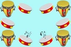 Muzikaal kader royalty-vrije illustratie