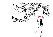 Muzikaal meisje Stock Afbeeldingen