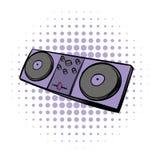 Muzikaal modern instrument die consolepictogram mengen stock illustratie