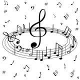 Muzikaal, mooi patroon op een witte achtergrond vector illustratie