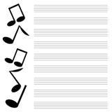 Muzikaal ontwerp Stock Foto