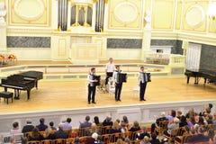 Muzikaal overleg in hoofdzaal van de Academische Kapel van de Staat royalty-vrije stock fotografie
