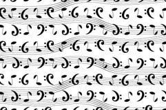 Muzikaal patroon met nota's vector illustratie