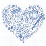Muzikaal patroon voor affiches, banners Muziekfestival, karaoke, disco, rots royalty-vrije illustratie