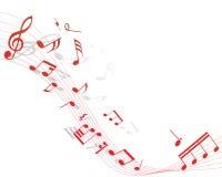 Muzikaal personeel Royalty-vrije Stock Afbeeldingen