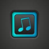 Muzikaal pictogram stock illustratie