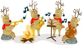 Muzikaal rendier vector illustratie
