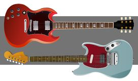 Muzikaal tekeningshulpmiddel Getrokken gitaar Schets van gitaar vector illustratie