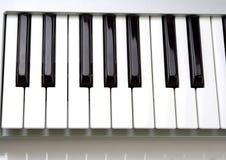 Muzikaal toetsenbord stock afbeeldingen