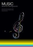 Muzikaal vectormalplaatje -1 vector illustratie