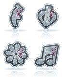 Muzikale aantekening Royalty-vrije Stock Afbeeldingen