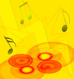 Muzikale achtergrond Stock Foto