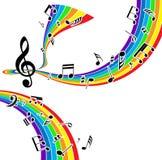 Muzikale achtergrond Royalty-vrije Stock Foto's