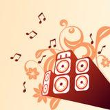 Muzikale achtergrond Stock Foto's