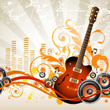 Muzikale achtergrond Royalty-vrije Stock Afbeeldingen