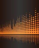 Muzikale achtergrond met het volumelijnen van de studio digitale frequentie stock illustratie