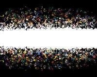 Muzikale achtergrond van kleurrijke nota's vector illustratie