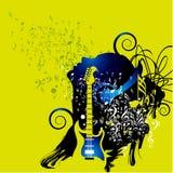 Muzikale achtergrond voor het ontwerp van de muziekgebeurtenis stock illustratie