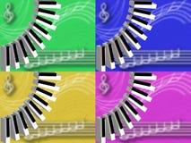 Muzikale achtergronden Royalty-vrije Stock Foto