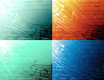 Muzikale achtergronden Royalty-vrije Stock Afbeeldingen