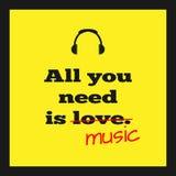 Muzikale affiche Stock Foto's
